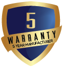 5 Year Manufacturer Warranty